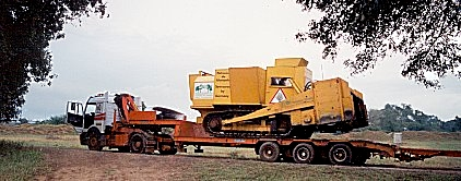 Transportation of KMMCS at an ordinary flatbed trailer