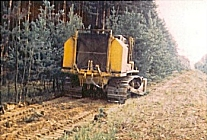 Krohn machine working at forest border